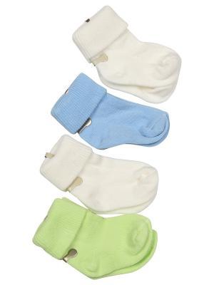 Носки-пинетки M-BABY. Цвет: молочный,салатовый,голубой
