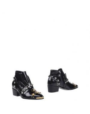 Полусапоги и высокие ботинки FAUSTO PUGLISI. Цвет: черный