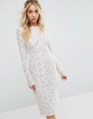 The Jetset Diaries Облегающее платье миди Dalliance. Цвет: белый