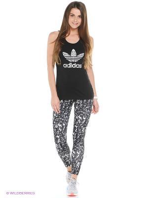 Леггинсы ULT AG TIGHT Adidas. Цвет: черный, белый