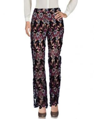 Повседневные брюки SELF-PORTRAIT. Цвет: фиолетовый