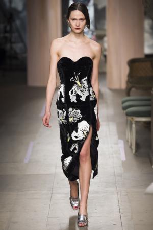 Бархатное платье-бюстье Rebecca Erdem. Цвет: черный, бежевый
