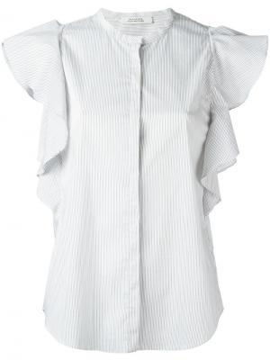 Блузка с оборочными рукавами Dorothee Schumacher. Цвет: белый