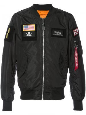 Куртка-бомбер L-2B Alpha Industries. Цвет: чёрный