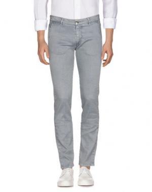 Джинсовые брюки BARBA Napoli. Цвет: серый