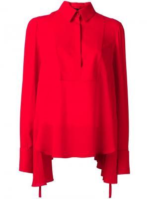 Драпированная блузка Alexander McQueen. Цвет: красный