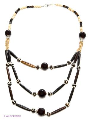 Ожерелье ГАНГ. Цвет: темно-коричневый, бежевый