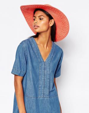 Echo Широкополая летняя шляпа. Цвет: оранжевый