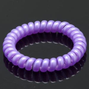 Резинка-Пружинка для волос, арт. РПВ-152 Бусики-Колечки. Цвет: сиреневый