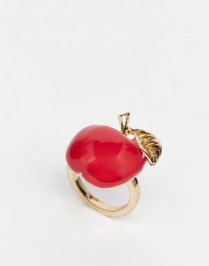 And Mary Позолоченное кольцо с эмалевым яблоком