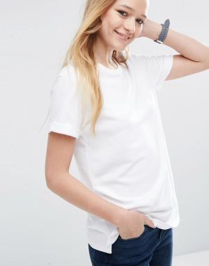 ASOS Легкая трикотажная футболка. Цвет: белый