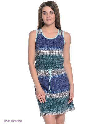 Платье Vienetta Secret. Цвет: морская волна, серый, синий