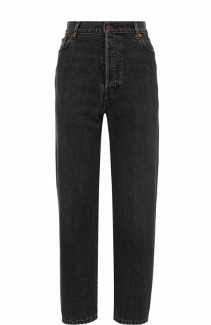 Укороченные джинсы с завышенной талией Vetements. Цвет: черный