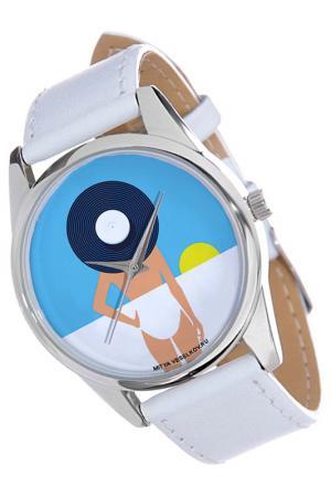 Часы Пляж MITYA VESELKOV. Цвет: желтый, синий, белый