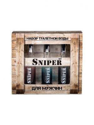 Подарочный набор для мужчин Sniper 3*20 мл. ПонтиПарфюм. Цвет: коричневый