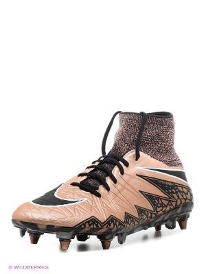 Бутсы HYPERVENOM PHANTOM II SG-PRO Nike. Цвет: черный, коричневый