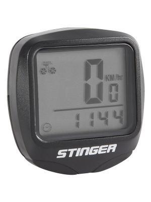 Велокомпьютер 15 функций Stinger. Цвет: черный