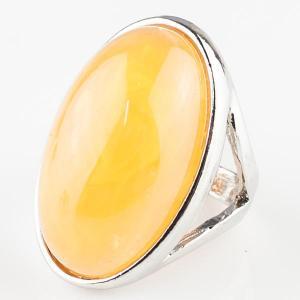 Перстень Люсия им. янтаря, арт. кп-4635 Бусики-Колечки. Цвет: желтый