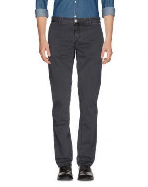 Повседневные брюки LUIGI BORRELLI NAPOLI. Цвет: свинцово-серый