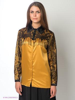Блузка ELENA FEDEL. Цвет: желтый, черный