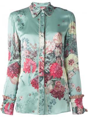 Рубашка с цветочным рисунком Antonio Marras. Цвет: синий