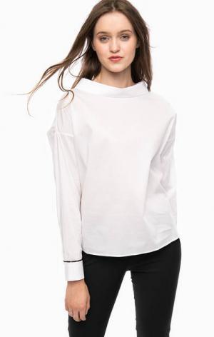 Белая блуза с пуговицами на спинке Kocca. Цвет: белый