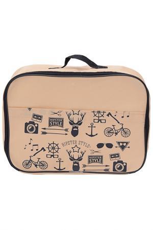 Сумка для багажа 35х25х10 HOMSU. Цвет: бежевый