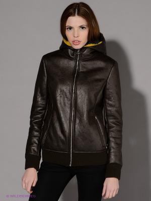 Куртка Maison espin. Цвет: коричневый