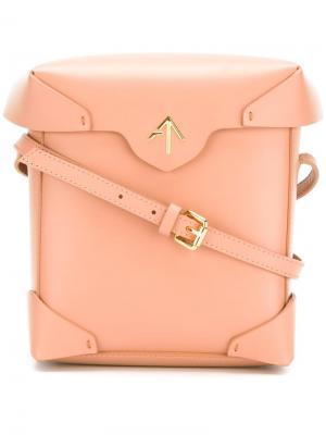 Мини сумка на плечо Scratchproof Pristine Manu Atelier. Цвет: телесный