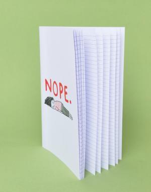 OHH DEER Блокнот формата A4 с надписью Nope Gemma Correll. Цвет: мульти
