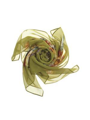 Платок Olere. Цвет: зеленый, желтый, коричневый