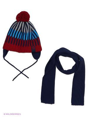 Шапка и шарф Grans. Цвет: красный