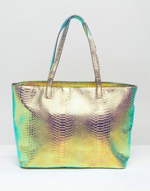 Skinnydip Блестящая сумка-тоут Comet. Цвет: мульти