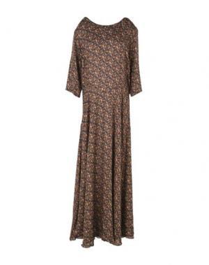 Длинное платье JESSIE WESTERN. Цвет: коричневый