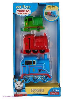 Складывающиеся блоки-паровозики THOMAS & FRIENDS. Цвет: голубой, зеленый, синий