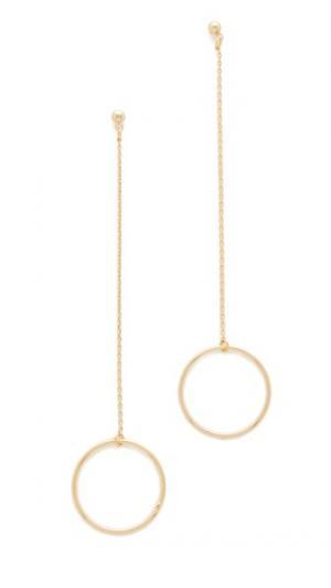 Серьги Circle String Cloverpost