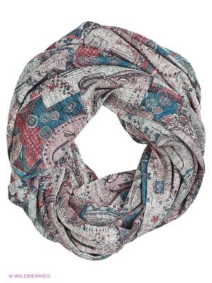 Двойной круглый шарф Мебиус Оланж Ассорти. Цвет: розовый