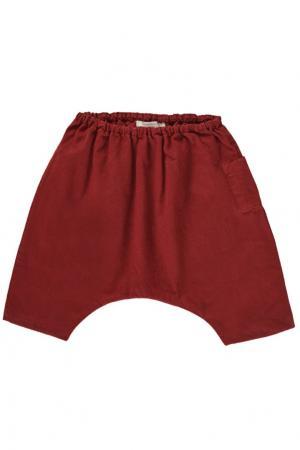 Хлопковые брюки Caramel Baby&Child. Цвет: красный