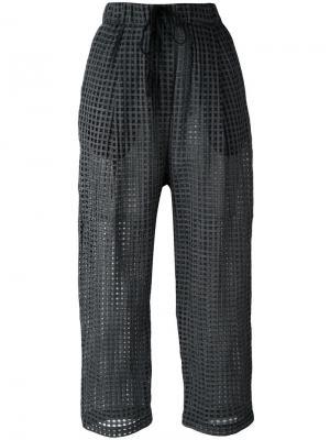 Укороченные брюки  Pae Damir Doma. Цвет: чёрный