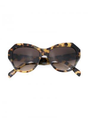 Солнцезащитные очки Zazouzz Zanzan. Цвет: коричневый