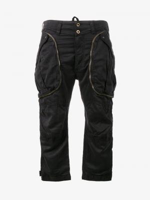 Укороченные брюки-карго Faith Connexion. Цвет: чёрный