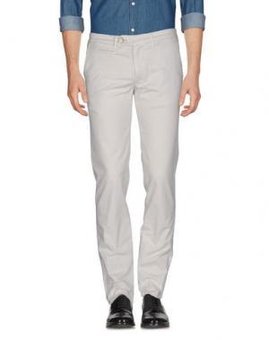 Повседневные брюки D-21. Цвет: светло-серый