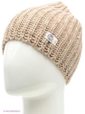Шапка BUFF KNITTED HATS STREAM OYSTER GRAY. Цвет: серый