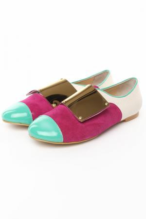 Закрытые туфли Tucino. Цвет: сиреневый, бежевый, мятный