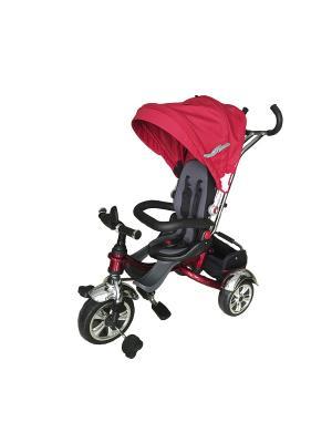 Велосипед детский, 3х-колесный с поворачивающимся сидением и тентом, красный (MT-BCL0815002) Pit Stop. Цвет: красный