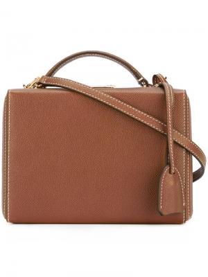 Маленькая сумка на плечо Grace Mark Cross. Цвет: коричневый