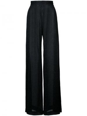 Широкие брюки  из люрекса Rachel Comey. Цвет: чёрный