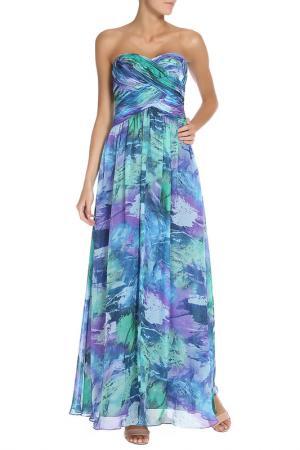 Платье Groupe JS. Цвет: синий, зеленый