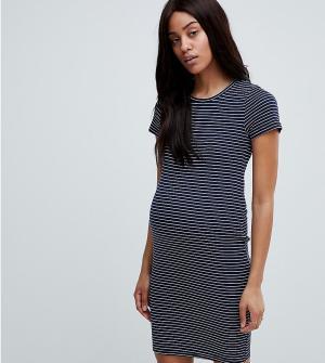 New Look Maternity Облегающее платье в полоску из трикотажа рубчик. Цвет: желтый