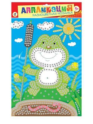 Разноцветная мозаика. Лягушонок Дрофа-Медиа. Цвет: зеленый, коричневый, голубой